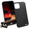 iPhone 12 Pro Max GENUINE Black Carbon Fibre Phone Case by LA Carbon Fibre