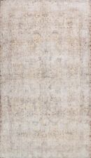 Antique Muted Tebriz Hand-knotted Area Rug Distressed Wool Large Carpet 10'x13'
