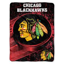 NHL große Decke Chicago Blackhawks Silk Throw Blanket Ice Dash Eishockey