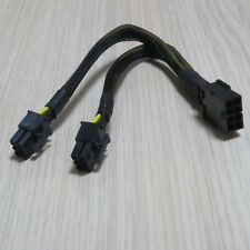 8pin To 2-port Dual 6Pin 6p PCI Express graphics Video Card Power Cable 23cm