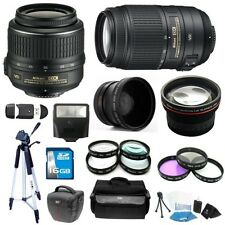 Nikon 18-55mm VR & 55-300mm VR Lens Kit for D3100, D3200, D5100, D5200, D7000
