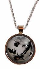 Peter Pan Flying Glass Domed Pendant NECKLACE