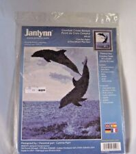Janlynn Cross Stitch Kit I Can Get HIgher Dolphins  2001 New in Package