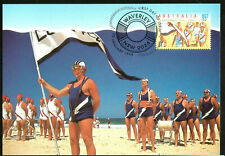 Australia Baywatch Livesaving Drill Maximum Card Postmarked  First Day of Issue