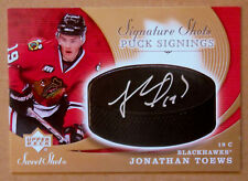 "2007-08 JONATHAN TOEWS UD SWEET SHOT ""PUCK SIGNINGS"" ROOKIE AUTOGRAPH AUTO"