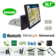 "Single Din 10.1"" 1080P Rotatable Quad-core RAM 1GB ROM 16GB Car Stereo Radio GPS"