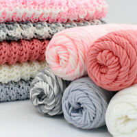100g Chunky Milk Cotton Yarn Knitting Wool Roving Crocheting DIY Scarf Solid Hot