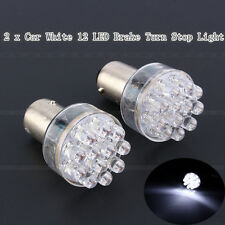 2 x Bright White Car 1157 BAY 15D 12 LED Brake Turn Stop Tail Light Lamp Bulb