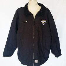 b143ad7663e NWT JACKSONVILLE JAGUARS Heavy Jacket Mens 2XL Black DB Workwear