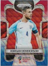 2018 Panini FIFA World Cup Blue Red Wave Prizm (70) Jordan HENDERSON England