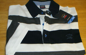 New Paul & Shark Yachting Polo Shirt Multi-coloured Size L Superb Quality WOW!