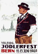 Original vintage poster JODEL SWISS SINGER FESTIVAL BERN 1949