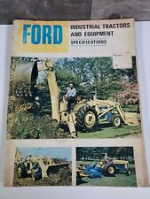 Ford Industrial tractors and equipment sales catalog circa 1965