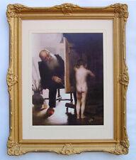 "Canadian Artist Paul Peel ""THE TIRED MODEL"" in Large golden Frame"