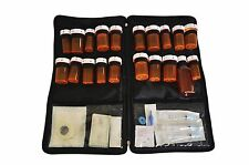 Portable Lockable medication bag with Free Pill box organizer by Razbag