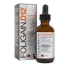 Estimulador de Crecimiento de Cabello D12 FOLIGAIN después 12% trichogen bloqueador de DHT 2 OZ (approx. 56.70 g) 59 Ml