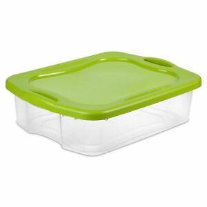 Sterilite 8.75 Gallon Clear & Spicy Lime EZ Carry, 2 Piece
