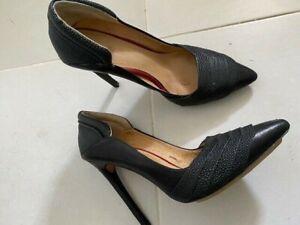 L.A.M.B (Gwen Stefani) black leather heels size 9.5 Aus good condition worn once