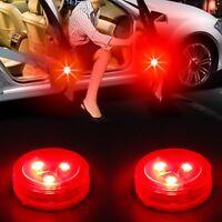 2Pcs Anti-collid Car Warning Light Door Safely Open LED Flash Lamp Wireless