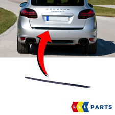 NEW GENUINE PORSCHE CAYENNE 2010-2014 REAR BOOT LID LOWER MOULDING TRIM BLACK