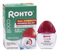 Rohto Cooling Eye Drops Maximum Redness Relief 0.4 oz