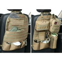 2X Tactical Molle Car Seat Organizer nylon Seat Back Cover Protector Car Holder
