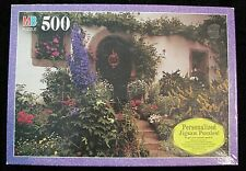 MB PUZZLE CROXLEY 500 PIECE COTTAGE GARDEN 1998 SEALED IN BOX