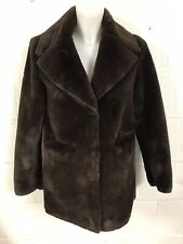 Gorgeous Warehouse Faux Fur  Coat Jacket Size 8, Look All Photos For Measure