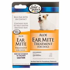 FOUR PAWS ALOE EAR MITE CURE TREATMENT FOR DOGS 0.75 Oz NEW in SEALED PACK