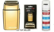 BaByliss PRO® Cordless Shaver GOLD AND Gold Replacement Double Foil, FREE Spray