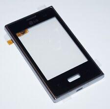 Original LG E400 Optimus L3 Touchscreen + Housing Frame, Frame, Black, Black
