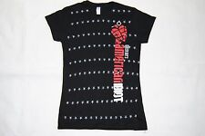GREEN DAY AMERICAN IDIOT STARS LOGO LADIES SKINNY T SHIRT NEW OFFICIAL DOOKIE