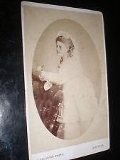 Cdv old photograph Wedding bride by Callister at Douglas IOM c1870s Ref 504(17)