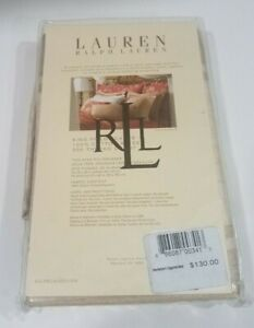 New Ralph Lauren King 2 Pillowcases Set VILLA CAMELIA LINEN BEIGE
