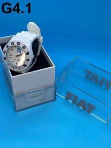 NEW Genuine Accessory White Fiat 500 Vintage Silicone Quartz Watch 50907942