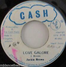 "Jackie Brown - Love Galore ~ 7"" Single Ja Press"