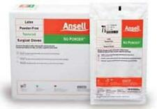 EXPIRED ANSELL Powder FREE Latex Surgical gloves: Sterile, Powder-Free, Textured