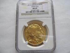 2014 , American Gold Buffalo ,  $50 ,  MS-69  , NGC