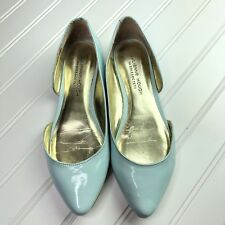 Julianne Hough for Sole Society Slip On Patent Leather Flats Blue Size 7 B / 37