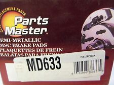 Parts Master MD633 Disc Brake Pad, Front Semi-Metallic L@@K FREE Ship!!