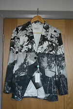 BNWT Dries van Noten SS/12 Printed Cotton Silk Blazer - EU 36 / UK 8