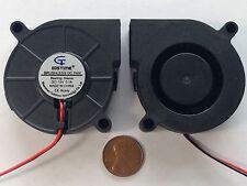 2 pcs 12V 50mm Blower Fan 5015 50mm x 15mm Turbo Cooling 3D Printer Rep Rap 2pin