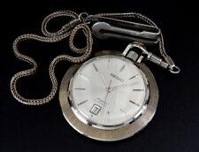 Working Seiko Skyliner Vintage 42mm Hand-Winding Manual Pocket Watch