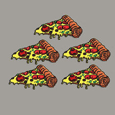5Pcs SMALL PIZZA Slice Tomato Badge Fast Food Iron on Patch Free Shipping