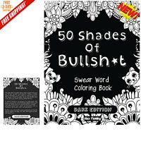 Adult Coloring Book Stress Relief Swear Word Designs Relax Patterns Therapy NEW