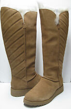 UGG ROSALIND SUEDE WOMEN OVER KNEE BOOTS CHESTNUT US11/UK9.5/EU42