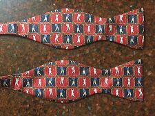 The Bow Tie Club Novelty Bow Tie Golf Print Silk EUC