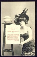cpa Phototypie BERGERET à NANCY Grand Concours LE VASE d'OR Combien de Dragées ?
