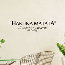 1X Removable Hakuna Matata Lion King Quote Wall Sticker Mural Poster Home D8C