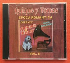 Quique Y Tomas Epoca Romantica V8 CD CANAL 1991 Puerto Rico